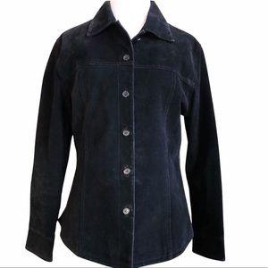 AMI ALEXANDRE MATTIUSSI suede leather jacket